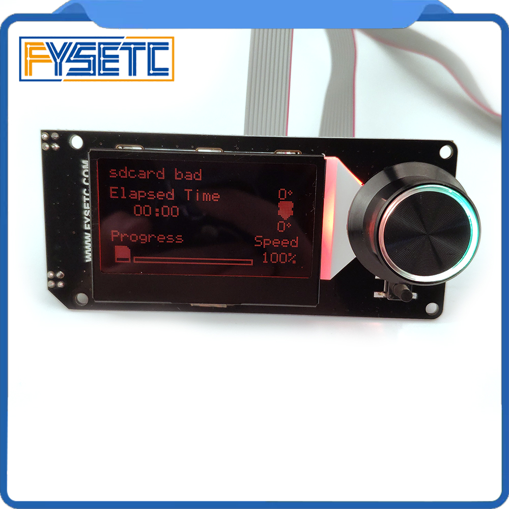 Image 2 - Type B mini 12864 Display MINI12864 V2.1 LCD Screen RGB backlight White Support Marlin DIY With SD Card For SKR 3D Printer Parts3D Printer Parts & Accessories   -