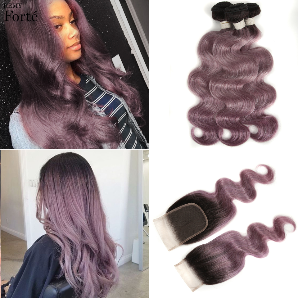 Remyforte Bundles With Closure Body Wave Bundles With Closure Emerald Color Green Human Hair Bundles With Closure For Noble VIP