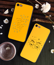 DK Yellow Aesthetic Art Pretty phone case Cover for Samsung s8 s9plus S6 S7Edge S5 Black for iPhone 6 6s 7 8plus 5 X XS XR XSMax