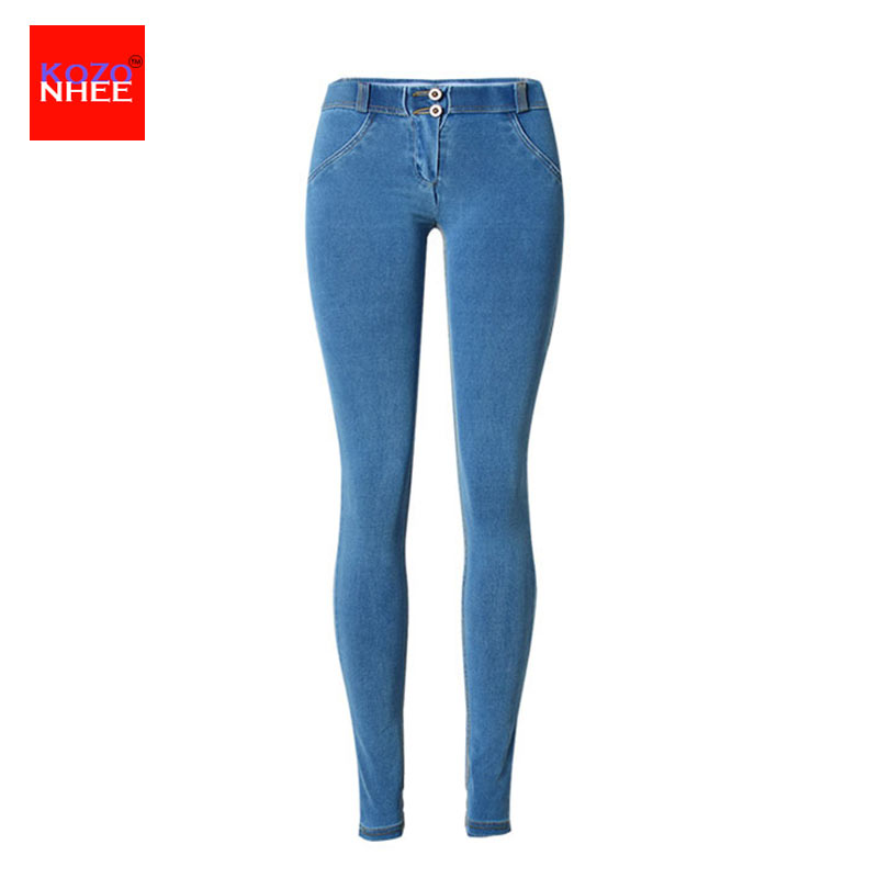 High waist Jeans Woman Skinny push up Jeans slim blue Denim Pencil Pants Stretch Women plus size sexy Jeans Pants Calca 4xl plus size high waist elastic jeans thin skinny pencil pants sexy slim hip denim pants for women euramerican