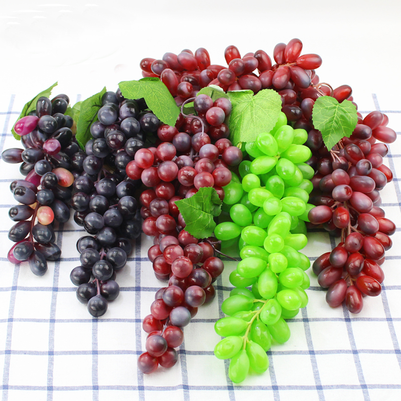 050 Imitation grape string anti fruit plastic grape fake fruit model green plant Interior Decoration pendant in Artificial Foods Vegetables from Home Garden
