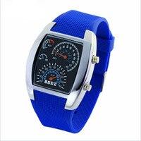 Moda Samolot Lotnictwa DOPROWADZIŁA męska Sport Cyfrowy Zegarek Wodoodporny Zewnątrz Zegarek Relogio Masculino Reloj Mujer Zegar Prezent