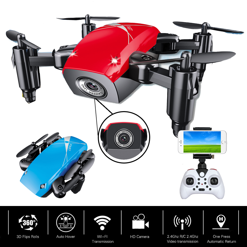 EBOYU S9HW Mini Foldable RC Quadcopter Drone WiFi FPV 0.3MP Camera w/ Altitude Hold RC Mini Quadcopter Selfie Pocket Drone RTF gteng t908w diy wifi fpv 0 3mp pixels altitude hold rc quadcopter rtf 2 4ghz