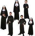 2016 Hot Priest Costumes with Adult Children's Churchman missionary Rason party performace Halloween cosplay clothes Nun Dress