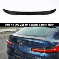 Para BMW X4 G02 25i 30i 2018 2019 trasero 2020 alerón de ala de acero al carbono con estilo baúl de alerones de fibra de carbono 3M pasta|Alerones y alas| |  -