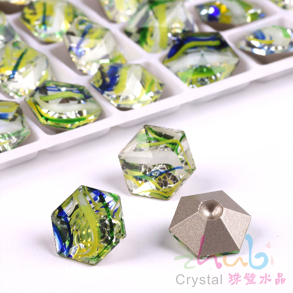 Claw Rhinestones Flatback Glass Sew On Stones 12X12MM Hexagon Crystal Loose  Faceted Pendant Wholesale For Wedding Dress Crafts-in Beads from Jewelry ... 57428cff6350