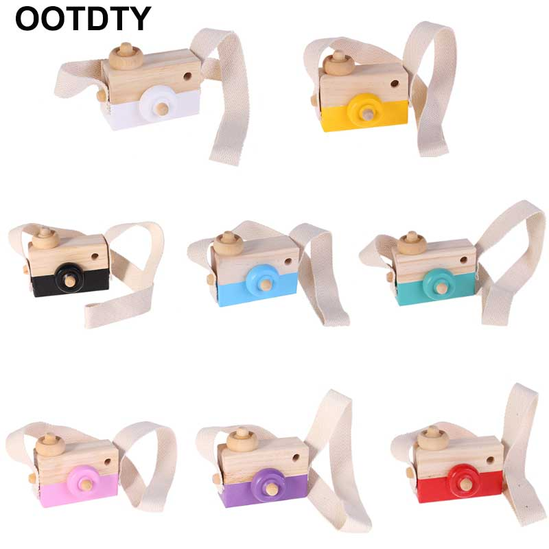 1Pc Wooden Baby Toys Fashion Camera Wood Pendants Montessori Toys For Kids Wooden Diy Present Baby Block Photography Prop Gif