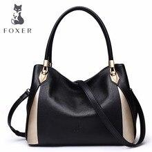 FOXER Brand Womens Leather Handbag Fashion Female Totes Shoulder Bag High Quality Handbags