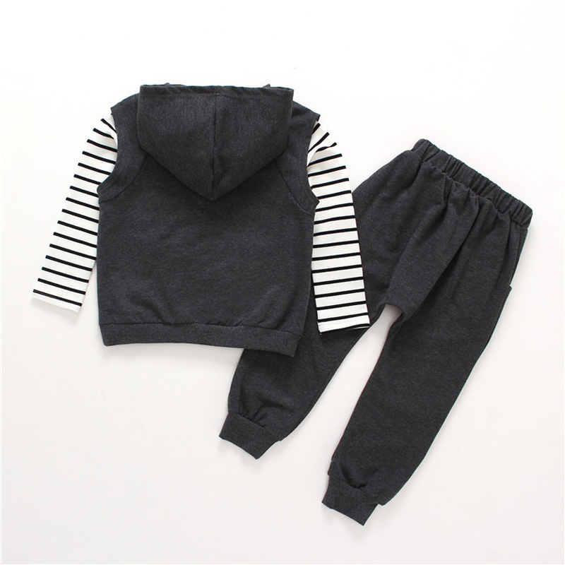 Children Clothes Set for Girls 2018 Spring Autumn Girls Suit Cotton Long-sleeved Stripe Sport Suits Kids Girl Clothing Set DQ807