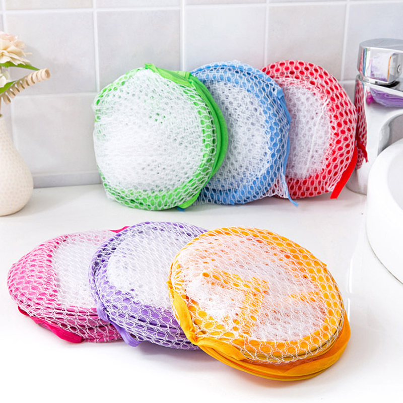 Foldable Washing Clothes Laundry Basket Bag Mesh Storage Toy Container Organization Dirty Clothes Basket Home Accessoris