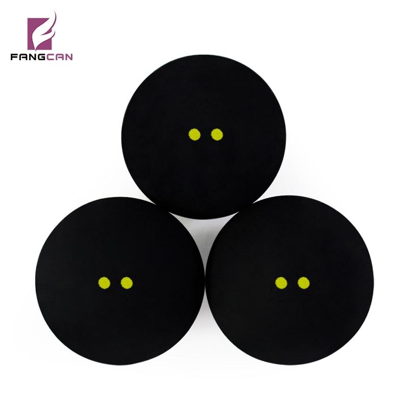 1 шт. FANGCAN конкурс сквош мяч два желтый горошек низкая Скорость Профессиональный Сквош шары