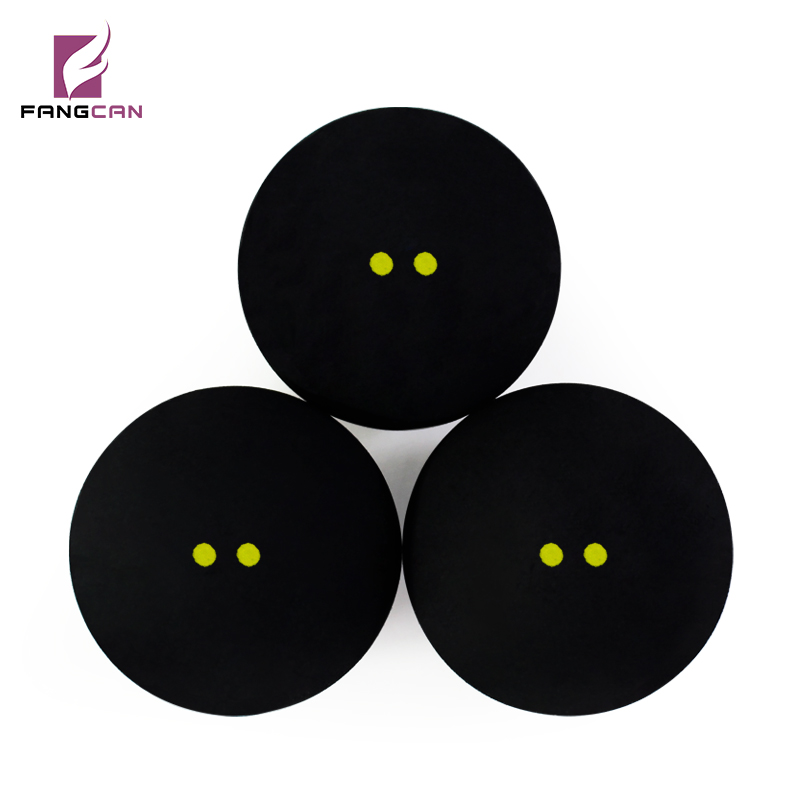 1 Pc FANGCAN Competition Squash Ball Two Yellow Dots Low Speed Professional Squash Racquet Balls