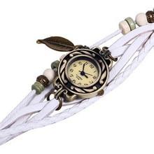 Fashion women s Watch Vintage Watches Bracelet Wristwatches leaf Pendant Watch Dress watch dropshipping free shipping