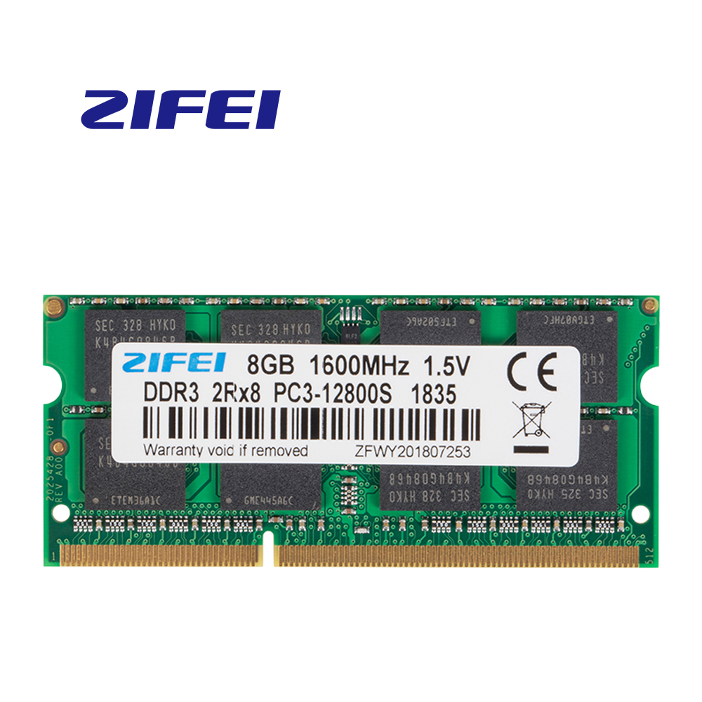 ZiFei ram <font><b>DDR3</b></font> 2GB 4GB 8GB <font><b>1066MHz</b></font> 1333MHz 1600MHz 204Pin SO-DIMM module Notebook memory for Laptop image