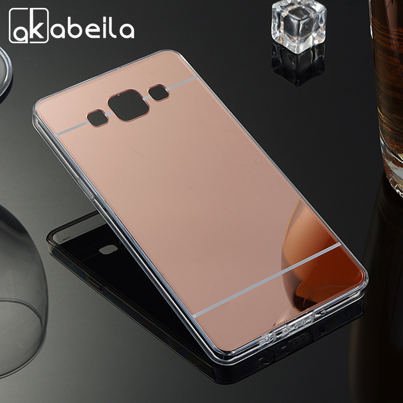 AKABEILA Phone Cases Back Cover For <font><b>Samsung</b></font> Galaxy A5 2014 A500F A500FQ <font><b>A500FU</b></font> A500HQ A500YZ A500M A500Y Soft PC Mirror Case image