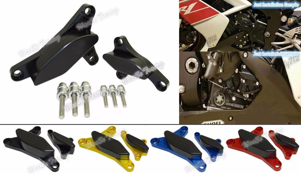 Motorcycle Engine Stator Crash Pad Slider Protector For Yamaha YZF R1 2007 2008 motorcycle engine stator crash pad slider protector for yamaha fazer fz1 2006 2007 2008 2009 2010 2011 2012 2013 2014 2016