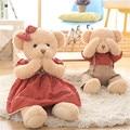 Супер Милый Плюшевый Мишка Плюшевые Игрушки Kawaii Различные Действия Медведь в Платье с Магнитами Чучела Peluche Куклы 45 см/65 см