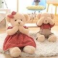 Super Cute Teddy Bear Plush Toys Kawaii Various Actions Bear in Dress with Magnets Stuffed Peluche Dolls 45cm/65cm