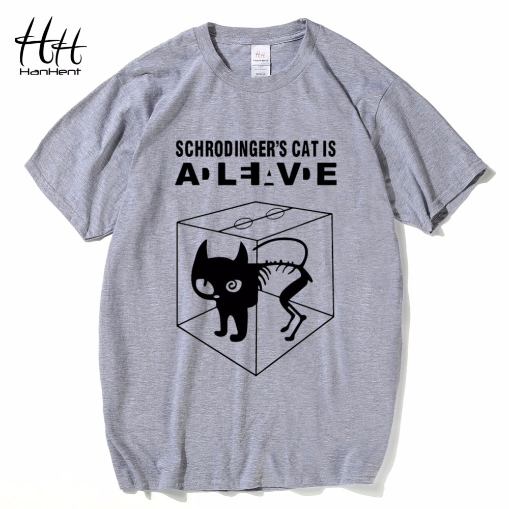 HanHent The Big Bang Theory Shirt Schrodinger's Cat T-shirts Mænd - Herretøj - Foto 2