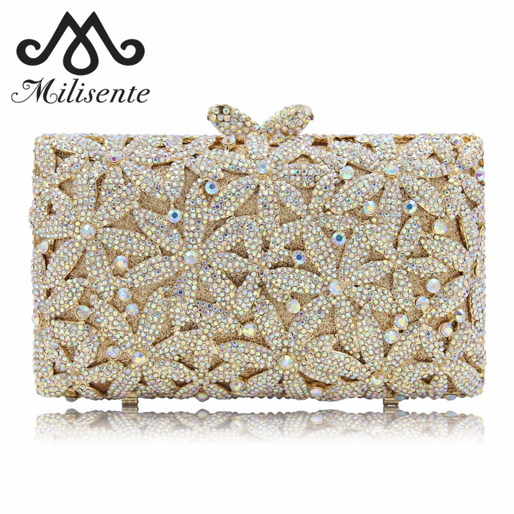 Milisente Brand Designer Pink Women Clutch Bags Gold Wedding Clutches Female Evening Bag Lady Party Purse With Chain luxury designer gold clutches flap women evening bags long chain tassel shoulder bag wedding party rhinestone clutch purse l897