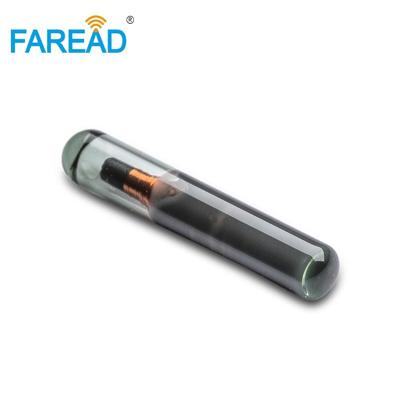 US $139 0 |x100pcs read/write IP68 Micro transponder FDX A standard  2 12*12mm LF RFID 125Khz chips bioglass tag for arowana fish-in IC/ID Card  from