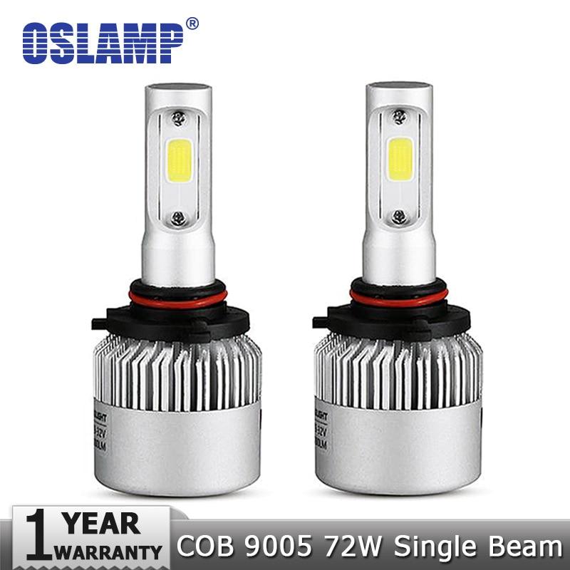 Oslamp 9005/HB3 72W Car LED Headlight Bulbs 6500K 8000lm COB Automobile Led Lamps 12v 24v for BMW HYUNDAI HONDA TOYOTA VW INFINI