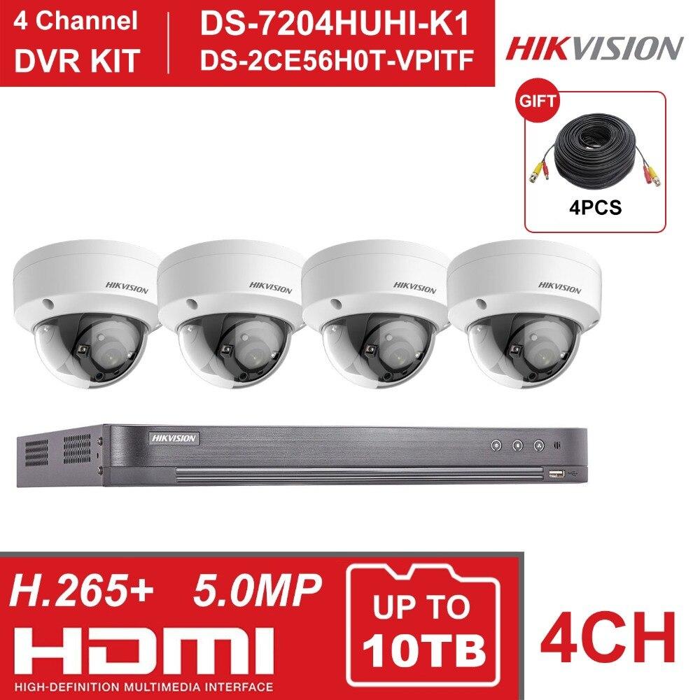 HIKVISION 4CH DVR ชุด 4 ช่องเครื่องบันทึกวิดีโอการเฝ้าระวัง DS 7204HUHI K1 5MP โดมการรักษาความปลอดภัยกล้อง DS 2CE56H0T VPITF-ใน ระบบการเฝ้าระวัง จาก การรักษาความปลอดภัยและการป้องกัน บน AliExpress - 11.11_สิบเอ็ด สิบเอ็ดวันคนโสด 1