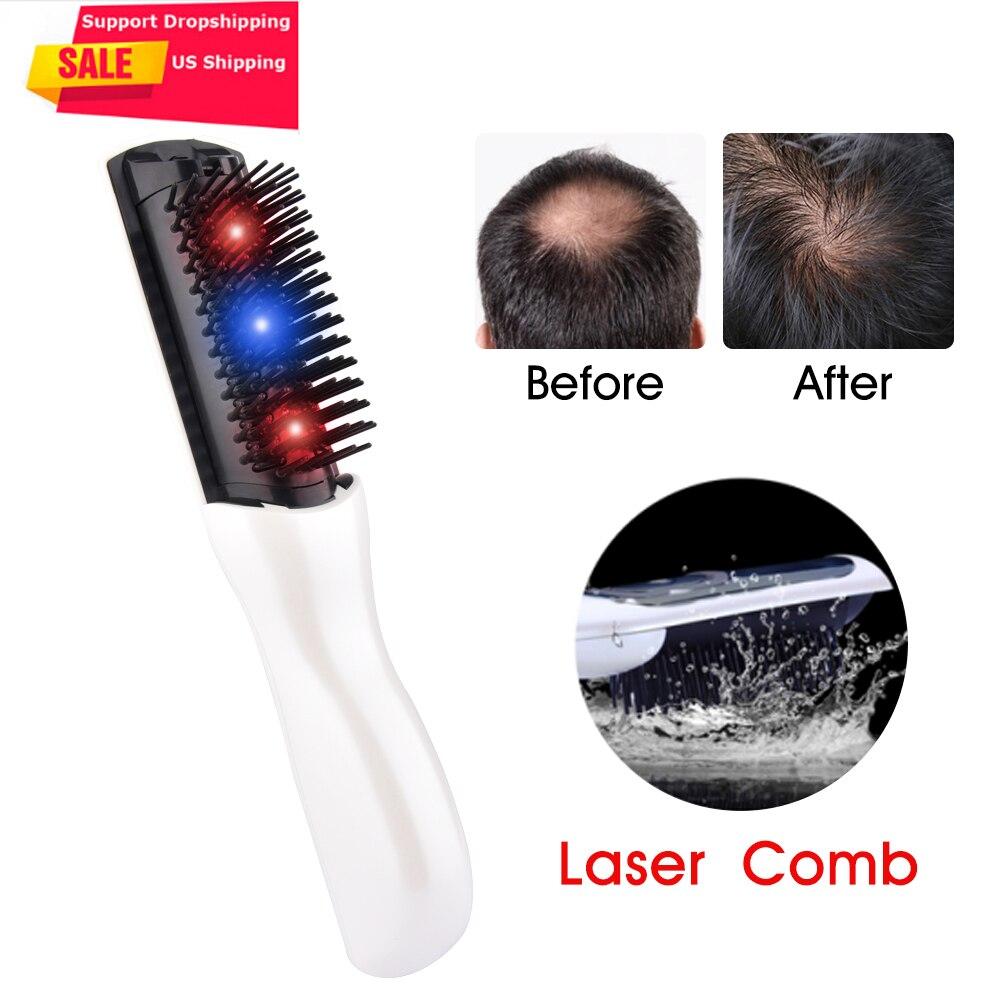 UNS Lager Elektrische Infrarot Laser Haar Wachstum Kamm Haarpflege Styling Haarausfall Wachstum Behandlung Infrarot Gerät Massager Pinsel