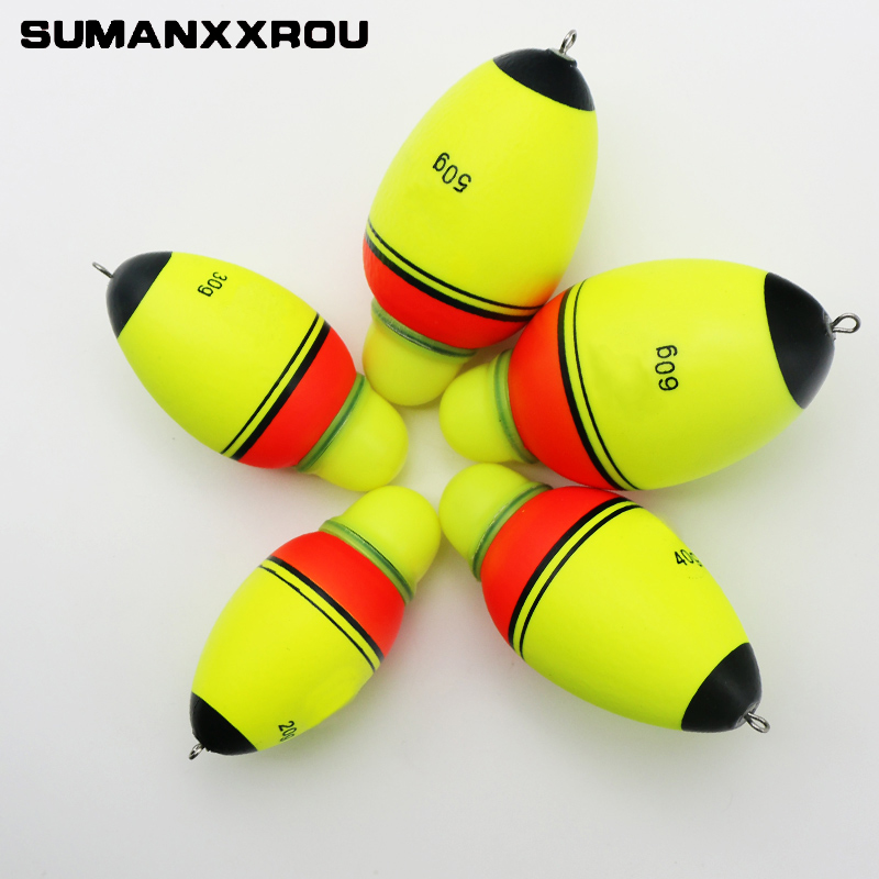 5Pcs EVA Luminous Electronic Led Carp Fishing Float with Light Can Change Color 20g 30g 40g 50g Fishing Swimmers Accesoires YF1