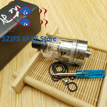 SXK Hurricane mini RTA Atomizer 22mm diameter 316 stainless steel material Adjustable Airflow RBA Tank fit 510 thread mods(China)