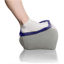 Useful Portable Inflatable Foot Rest Pillow Cushion Black PVC Air Travel Office Home Car Plane Leg Up Footrest Relax Pillows