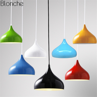Nordic Colorful Aluminum Pendant Lights LED Gourd Hang Lamp E27 Light for Living room Restaurant Bedroom Home Lighting Fixtures