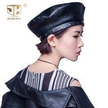 e14adf8ab6ba0 JOEJERRY Leather Beret Female Black Beret French Hat Harajuku Korean Style  Berets Caps For Women Girls