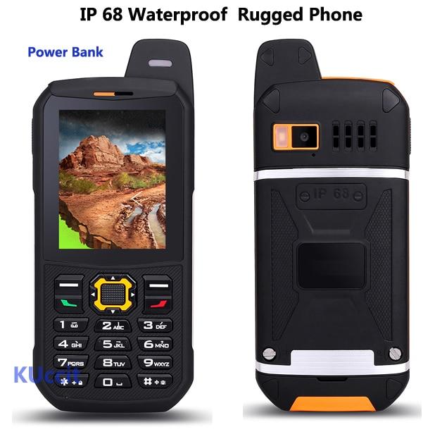 Original Waterproof phone Mobile CDMA Power Bank GSM Senior old man IP68 Rugged shockproof cell phone three sim sonim polski