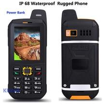 Оригинальный Водонепроницаемый Мобильный телефон CDMA Power Bank GSM Старший старик IP68 Прочный противоударный сотовый телефон три сим sonim polski