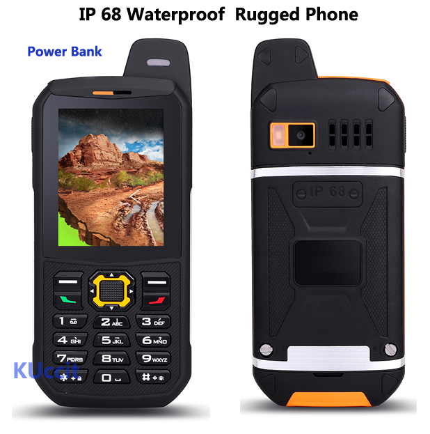 Original Waterproof phone Mobile CDMA Power Bank GSM Senior old man IP68 Rugged shockproof cell phone three sim sonim polski
