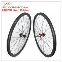 New tubeless ready 30mm 25mm disc wheelset for road cyclocross wheelset 28H spoke holes XD freebody F: 15*100mm, R: 12*142mm
