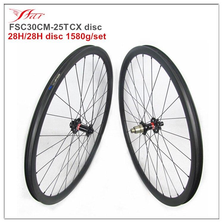 Nouveau tubeless prêt 30mm 25mm disque roues pour route cyclocross roues 28 H trous de rayons XD freebody F: 15*100mm, R: 12*142mm