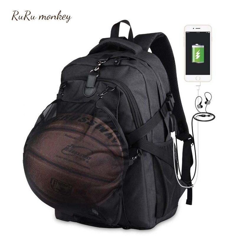 Ruru 원숭이 남성 배낭 십대 대용량 포켓 키즈 노트북 농구 가방 십대 여행 mochilas escolares-에서백팩부터 수화물 & 가방 의  그룹 1