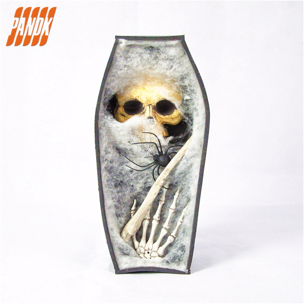Halloween Deluxe Zusammenklappbar Sarg Box mit Und Schädel Knochen ...