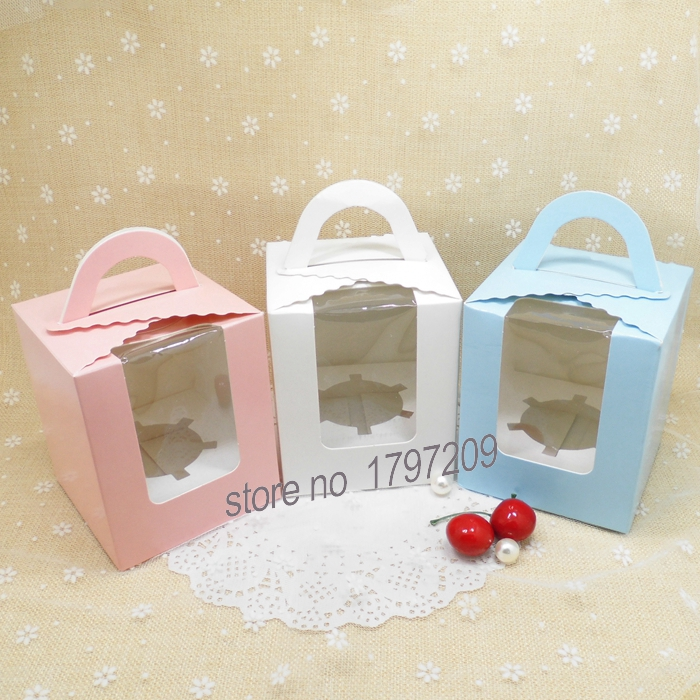 Free Shipping 10pcs Cute Wedding Cupcake Box Cake Pop
