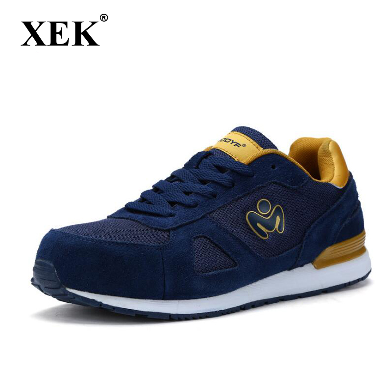 XEK Men's Summer Breathable Lightweight Safety Shoes Steel Toe Cap Work Shoes Men's Site Shoes Non-slip Shoes Non-slip wyq31 tigergrip industrial safety shoes cover for boot protective rubber overshoes non slip lightweight steel toe cap cover work shoe