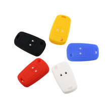 1 Piece 2 Button Silicone Key Protection Fob Bag Cover Case Fit For Opel Corsa Astra Vectra Signum Vauxhall Key Protector
