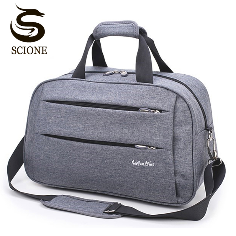 Hot Men Travel Handbag Weekend Carry On Luggage Bags Men Duffel Shoulder Bag Luggage Overnight Gray Maletas De Viaje