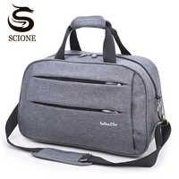 Los Hombres Calientes bolso FIN de SEMANA llevar en el equipaje bolsas de lona bolso de hombro bolsa de equipaje de la noche a la mañana gris maletas de viaje