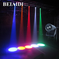BEIAIDI 5W Mini LED Pinspot Spotlight LED Stage Light Single Color Beam Lamp Mirror Ball DJ