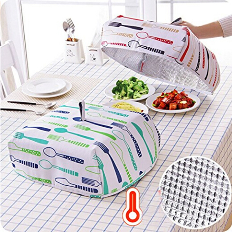 Dustproof Food Cover Foldable Insulated Food Cover Aluminum