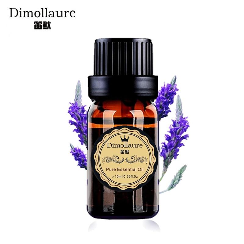 Dimollaure Lavender esenciální olej vůně lampa zvlhčovač aromaterapie pomoc spánek akné treament Lázeňský masážní olej péče o pleť