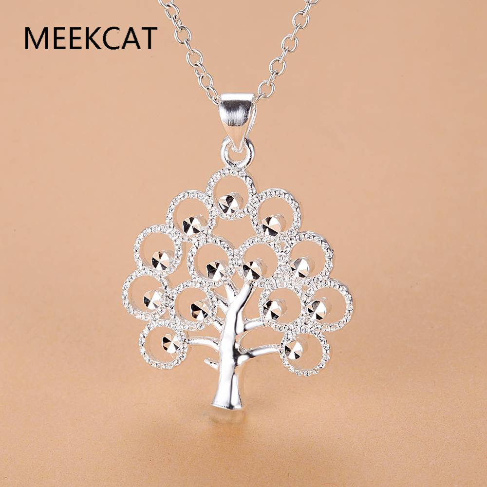 925 Stamped Sterling Silver Tree of Life Pendant Necklace Womens Ladies Gift New