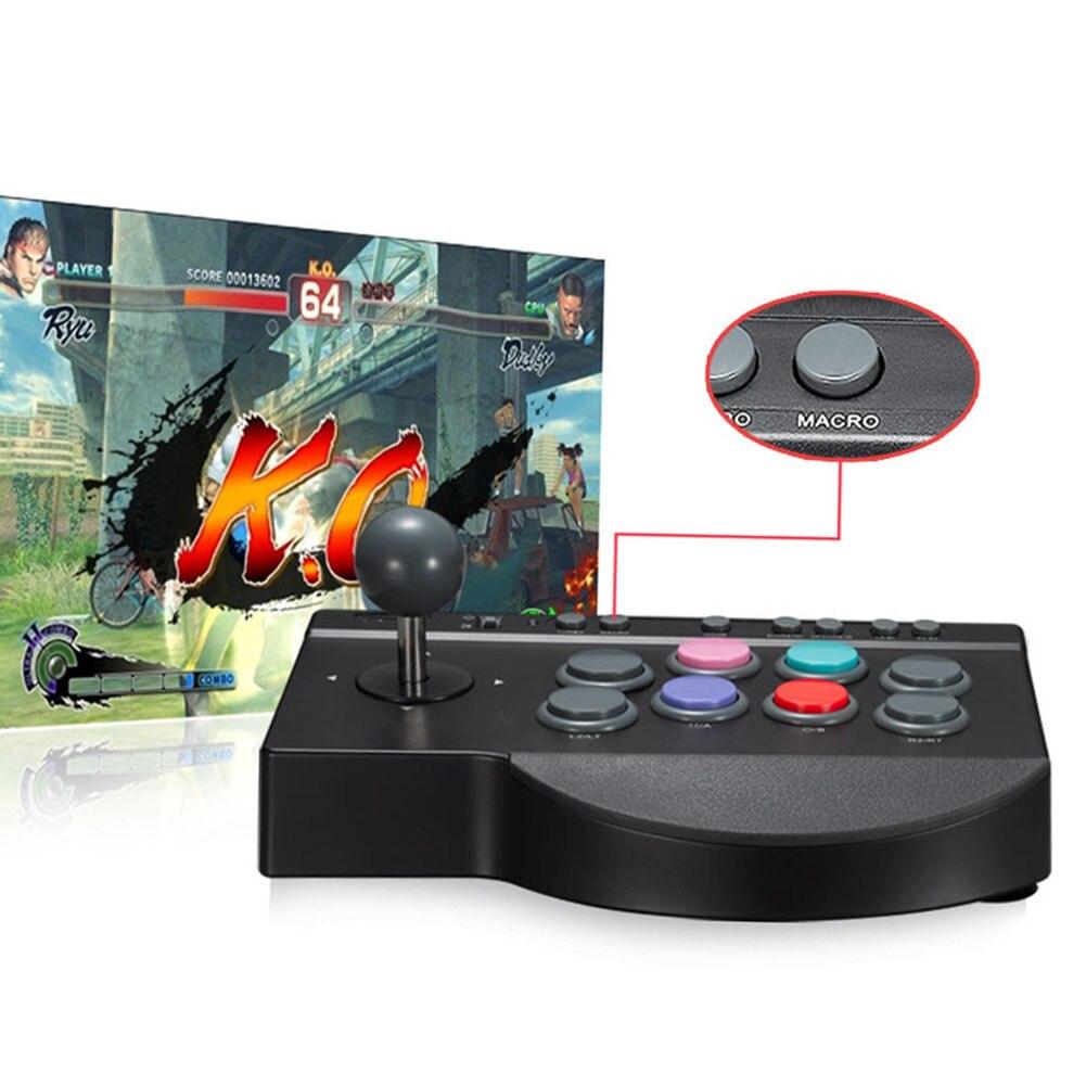 Manette multifonction pratique USB filaire ABS contrôleur de jeu remplacement pour Arcade combat bâton PC pour PS3/4 pour XBOX ONE